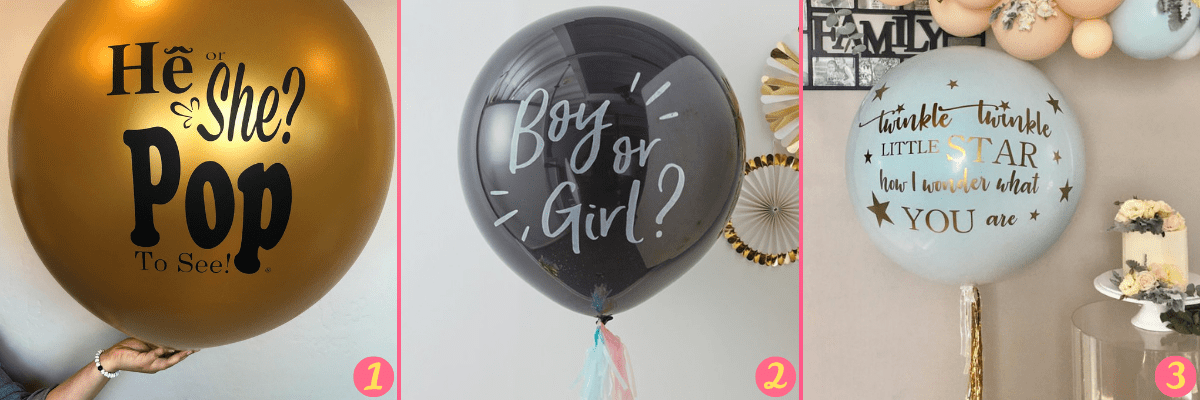 gender reveal party palloncini